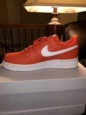 designer fashion 8ab7e 52a12 New Nike Air Force 1 07 Low Mens Shoes Size 12 Team Orange White AA4083