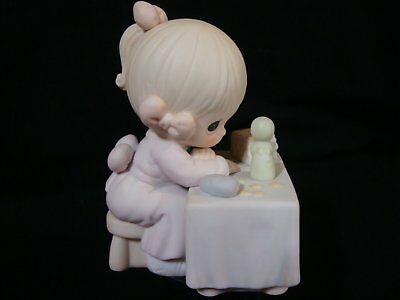 Precious Moments-Girl At Table Figurine-Member Only Figurine-My Happiness