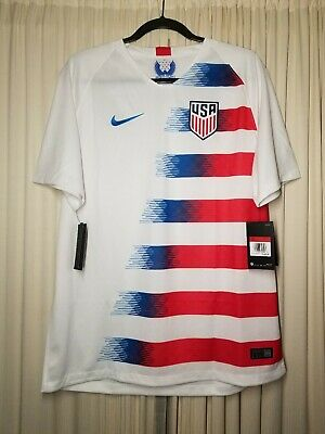 23d2346fc Nike Mens 2018 USA Soccer Home Jersey Large Pulisic 10  120 BV6141-100 New