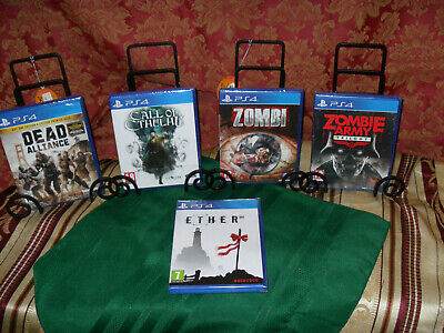 PS4 Horror Game Lot: Dead Alliance/Call of Cthulhu/Zombi/ETHER/Zombie Army