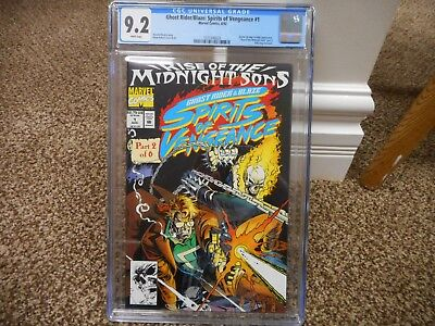 Ghost Rider Blaze Spirits of Vengeance 1 cgc 9.2 Marvel 1992 poly bag edition NM
