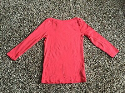 4bd96438ef0931 Gap The Bowery Womens Super Soft Boatneck T-Shirt 3/4 Sleeve Pink Tee