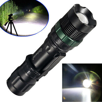 90000LM Super Bright Zoom 3 Modes Tactical Police T6 LED Flashlight Torch US New