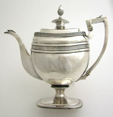 Rare Georgian provincial sterling coffee pot Dorothy Langlands Newcastle England