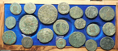 Lot of 20 Ancient Roman Coins, VF-VF+, Largest 28 mm, Great Mix!