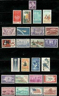 US Postage Stamps Vintage Collection Of 25 Stamps 60-84 Years Old (V-22)