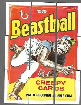 1975 Topps Wacky Packages 13th Series 13 Complete Puzzle Beastball