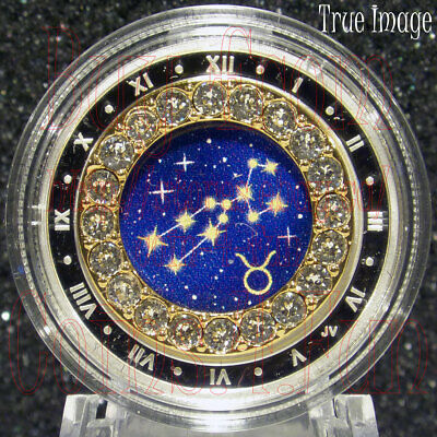 2019 Taurus Zodiac Series #5 $5 Pure Silver Coin with Swarovski Crystal Canada