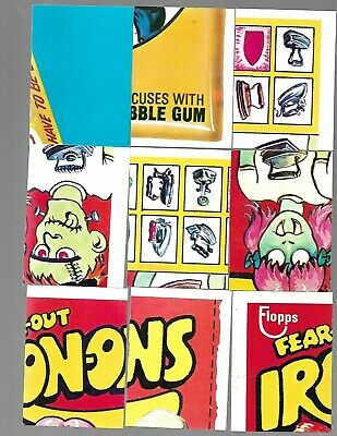 1973 Wacky Packages Puzzle Checklist Lot of 66 series 1 2 7 8 9 10 and 15 x - nm