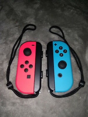 Nintendo Switch JoyCon Controllers Blue R and Red L - Brand New Condition.