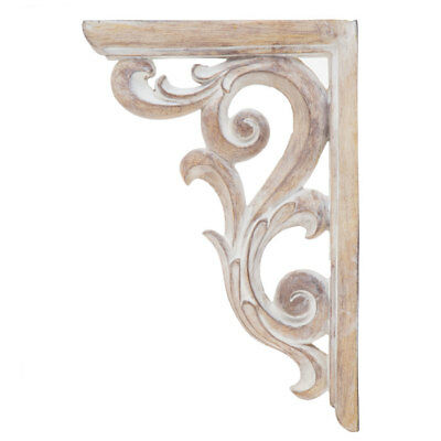 Rustic Corbel Wall Brackets Large Distressed White Ornate Resin Corbels