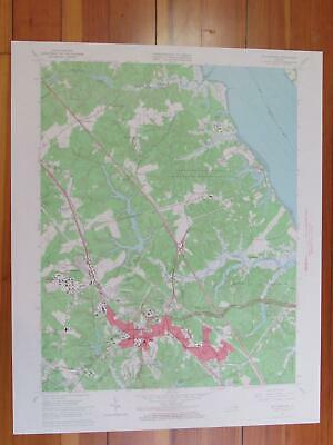 Williamsburg Virginia 1966 Original Vintage USGS Topo Map