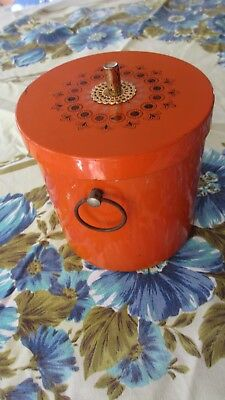 ***Retro Orange Ice /  Wine Bucket ,lift out insert***
