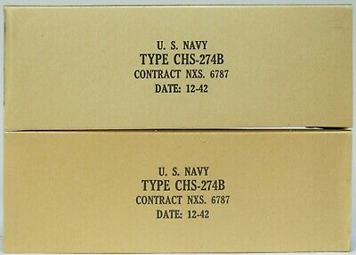 2 NOS CHS 274B SYLVANIA Tubes 1943 Matched Pairs New in original Box 5U4G