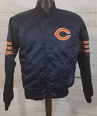 Vintage 80 s CHICAGO BEARS Satin Starter NFL Ditka Jacket size Men s Medium 9cca9d984
