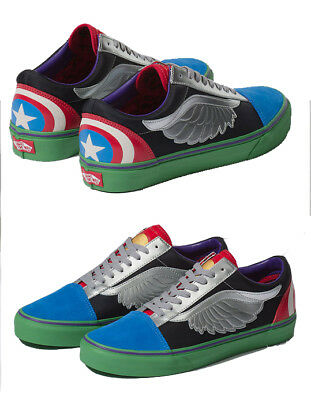 Authentic VANS x Marvel Avengers Old Skool Shoes, Thor,Captain America