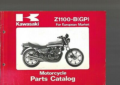 KAWASAKI Z 1100 B GP GPZ Pièces de rechange Catalogue parts list catalog 1981