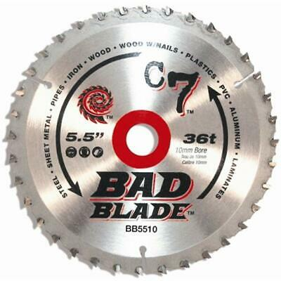 KwikTool Circular Saw Blades USA BB5510 C7 Bad 5-1/2-Inch 36 Tooth With 10mm