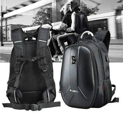 Motorcycle Backpack Helmet Bag Waterproof Luggage Hard Shell New