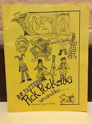 Cloth Pin Doll Pattern Booklet 'Pick Pockets' By Elinor Peace Bailey