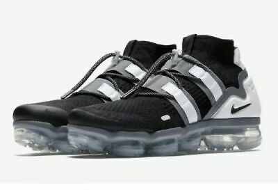 Nike Air Vapormax Flyknit Utility Black Cool Grey White AH6834-003 Men's Size 9