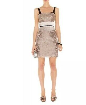 29e1585452 KAREN MILLEN LACE And Satin Pencil Dress Size 10. New With Tags ...