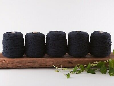 navy 4mm macrame rope 5kg coloured 3 strand ply cotton cord bulk wholesale