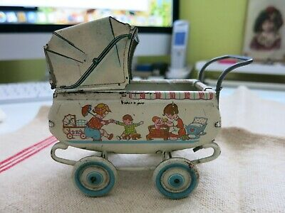 KLEINER  Blech PUPPENWAGEN  ++made in Germany   Litho ++ Penny Toy  ++