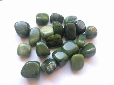 10 Medium Jade Tumblestones -- 20mm - 30mm  -- Wholesale Bulk Job Lot Crystals