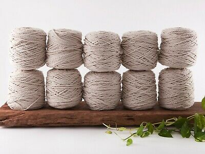 5mm natural macrame rope 3 ply string coloured cotton cord twisted bulk