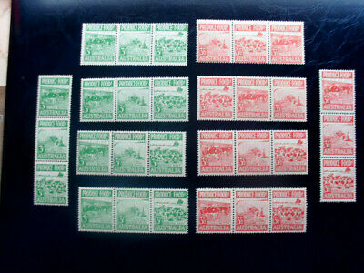 Australia 1953 Food Production Lot Of Unmtd Mint Strips