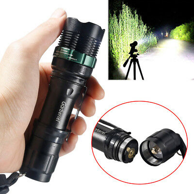 90000LM Zoom 3-Modes T6 LED Flashlight Super Bright US Outdoor Torch