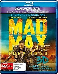 Mad Max Fury Road 3D Blu Ray - New & Sealed Charlize Theron, Tom Hardy 3D & 2D