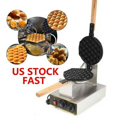 Electric Egg Cake Oven Puff Bread Maker Waffle Bake Stainless Steel Machine 110V