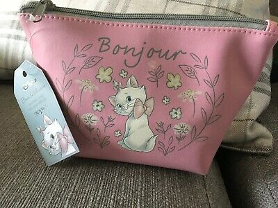 1b9a1b83f8 Disney Aristocat Maria Bows And Whiskers Cosmetic makeup Bag Mad Beauty Bnwt