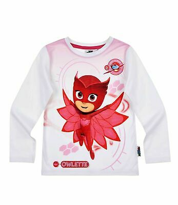 PJ MASKS Original Boys Long Sleeve Cotton Tops T-Shirts with Gekko Catboy Characters 2-8 Years