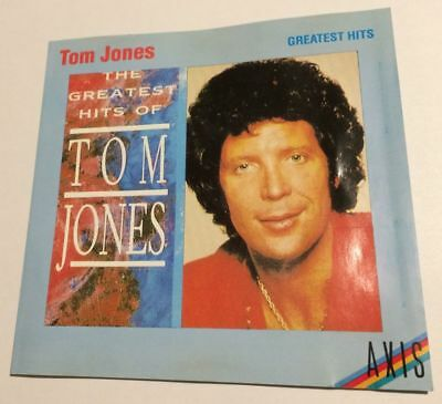TOM JONES The Greatest Hits Of CD 1987 Chrysalis EMI Axis oz Disctronics aussie