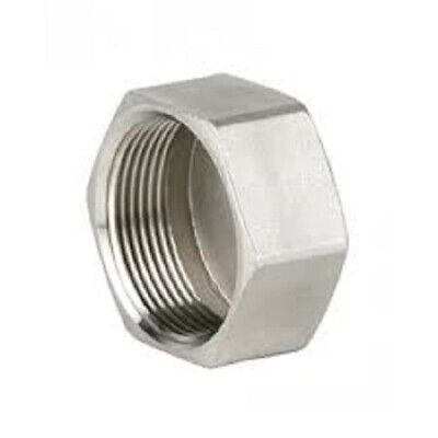 """Stainless Steel (316) End Cap  Threaded BSP Pipe Fittings   Sizes 1/8"""" To 2"""""""
