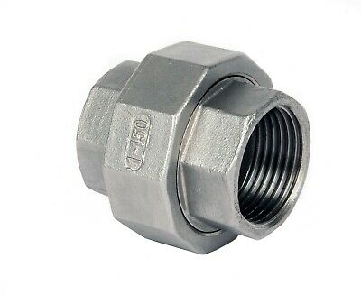 "Stainless Steel (316) Union Fem x Fem Threaded BSP Pipe Fittings Size 1/8"" To 2"""