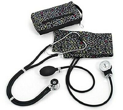 Prestige Medical Aneroid Sphygmomanometer / Sprague-Rappaport Kit - Leopard Grey