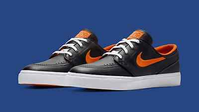 d52f0c48fe7bce Nike SB X NBA Zoom Janoski New York Knicks Black Royal Brilliant Orange sz  5-