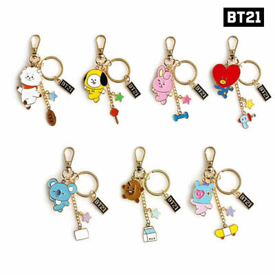 BTS BT21 Official Authentic Goods Metal Keyring 7Characters By Monopoly + Track#