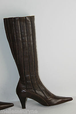 Boots Pointed THE PARADE Leather Rigid Brown T 39 VERY GOOD CONDITION