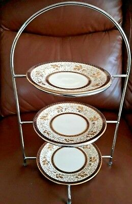 Vintage Aynsley  3 Tier Metal Cake Stand
