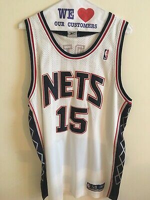 8d5b7022a AUTHENTIC REEBOK SEWN New Jersey Nets Vince Carter throwback jersey ...