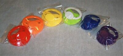 Adult sized pacifier 6 pack rainbow collection