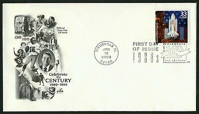 #3190a 33c Space Shuttle Program, Art Craft FDC **ANY 4=FREE SHIPPING**