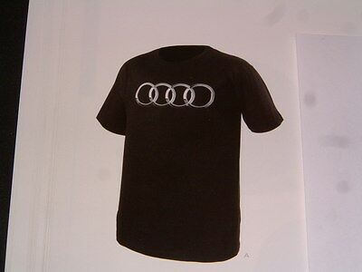 Audi Collection Short-Sleeved, Black T-Shirt, Usa Size L: Euro Size Xl Nib