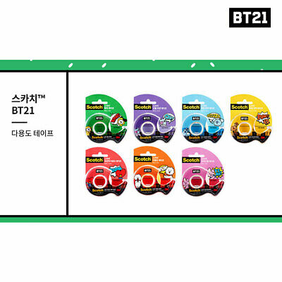 BTS BT21 Official Authentic Goods Scotch Tape 7SET + Tracking Number
