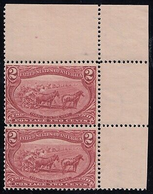 TDStamps: US Stamps Scott#286 Mint Very Small Part Gum, Pair
